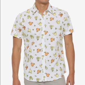 Mickey Ears Shaped Fruit Button Down Shirt